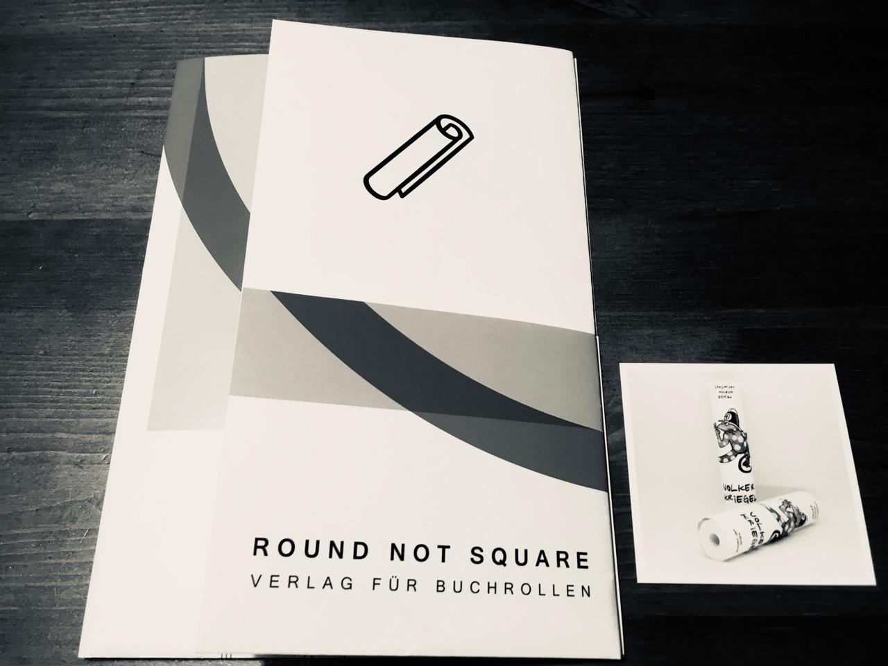 Round not Square / ベルリン発の巻物書籍