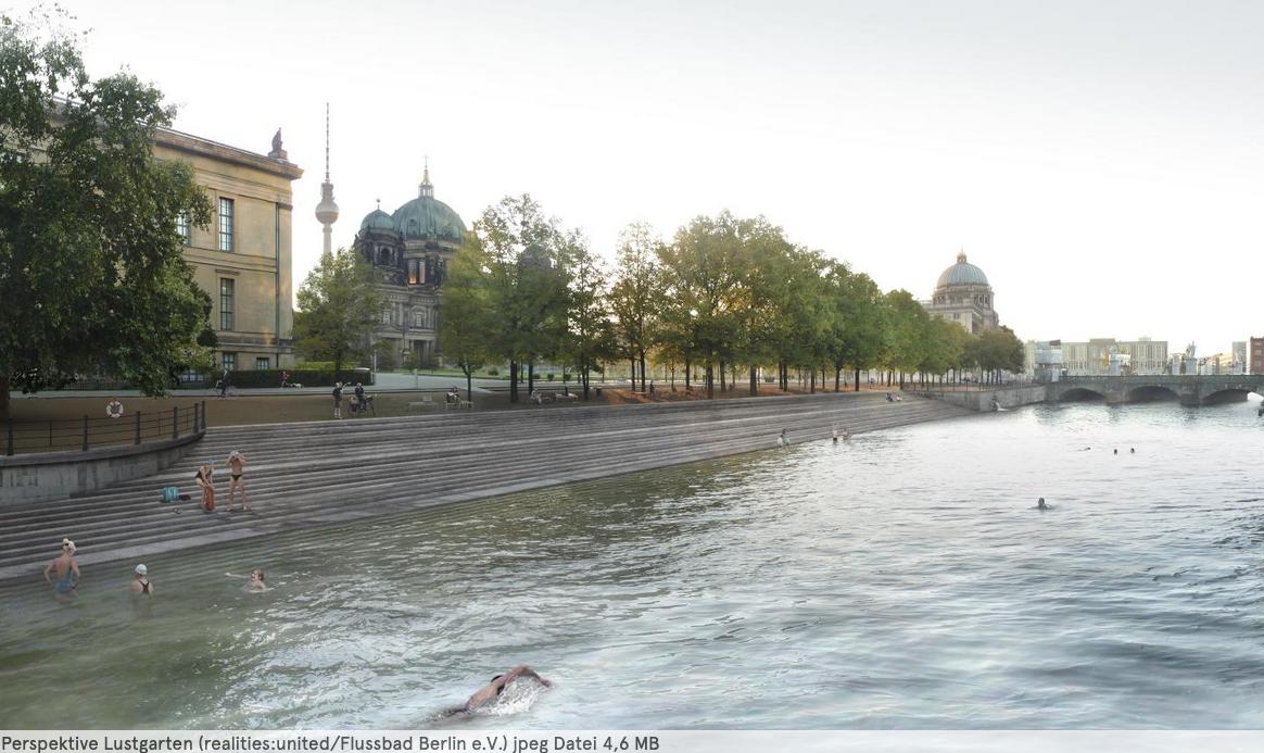 Flussbad Berlin / シュプレー川で泳ごう
