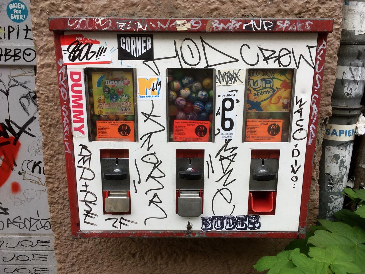Kaugummiautomaten / ベルリンのチューインガム自販機