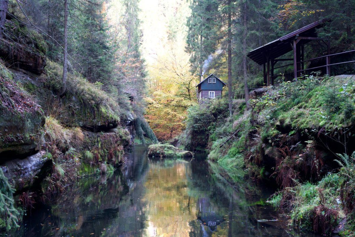 Kamenice / カメニツェ川の渓谷